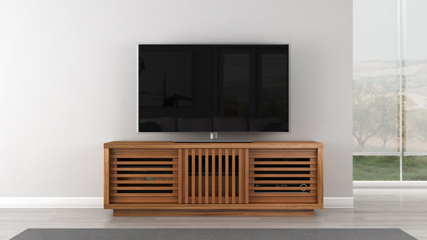 TV Stand White Oak Case with a Warm Honey Finish