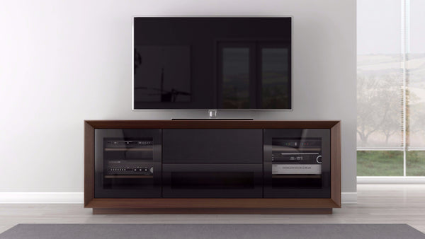 TV Stand in Natural American Walnut Veneer