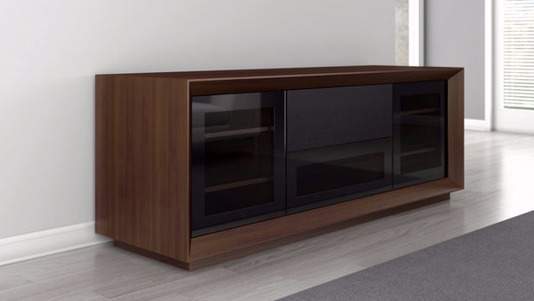 70 inch TV Stand in Natural American Walnut Veneer