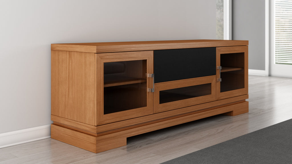 TV Stand in American Cherry Hardwood Furnitech