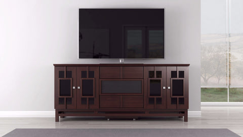 TV Stand in Cherry Hardwoods and Veneers