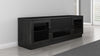 70 inch TV Stand in a Contemporary Ebony Finish
