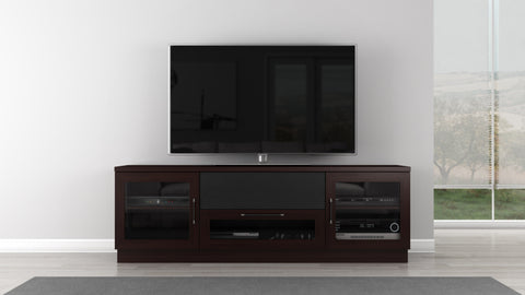 TV Stand in a Contemporary Wenge Finish