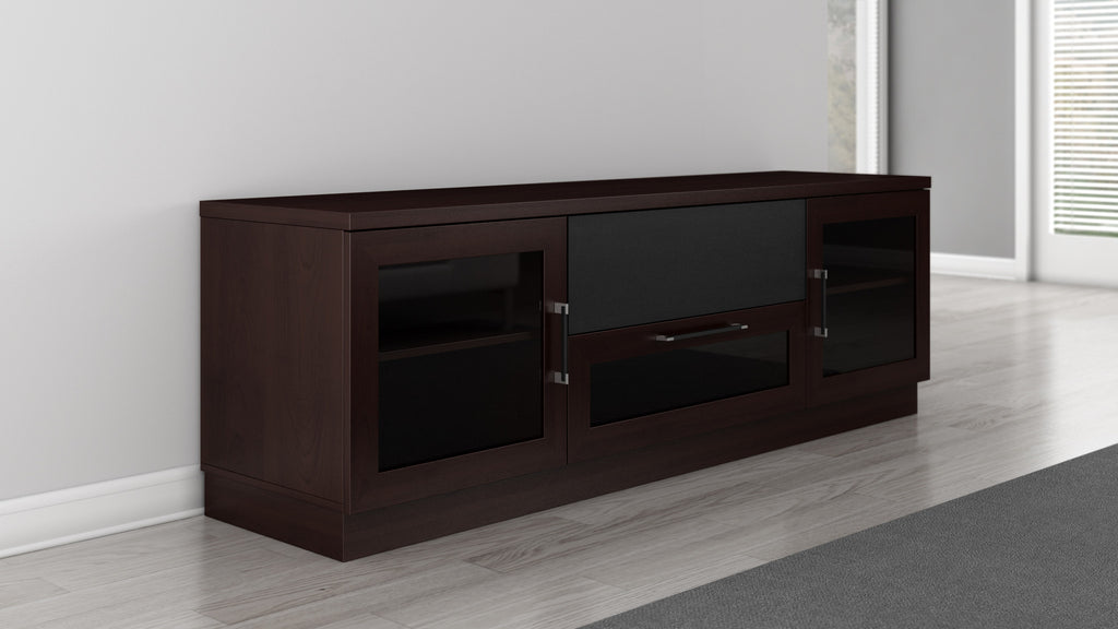 ... 70 Inch TV Stand In A Contemporary Wenge Finish