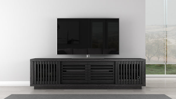 TV Stand of White Oak in an Ebony Finish