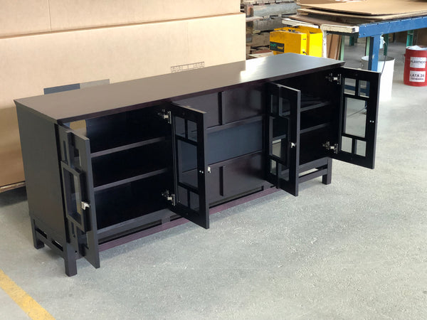 "70"" Contemporary Asian Wenge Media Console FT72ACW"