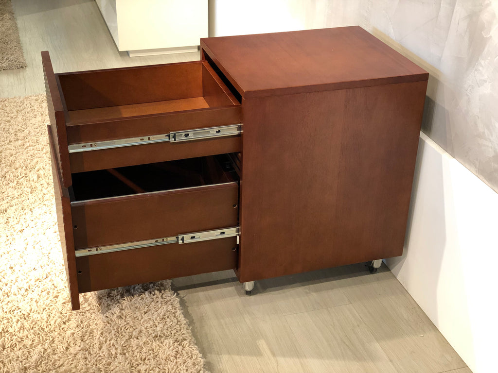 Two Drawer Mid Century Modern Rolling File Cabinet Tango Pd