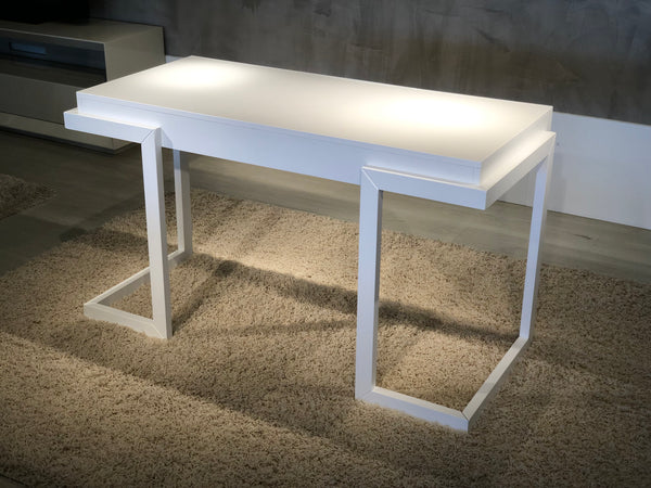 "56"" Contemporary Writing Desk in a textured matte white finish, FT56CWW"