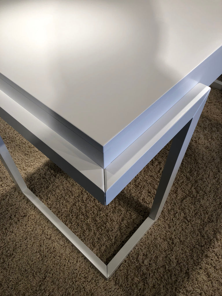 56 Quot Contemporary Writing Desk In A Textured Matte White