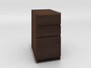 3 Drawer File Cabinet in Brazilian Cherry with a Cognac Finish TANGO-160FP