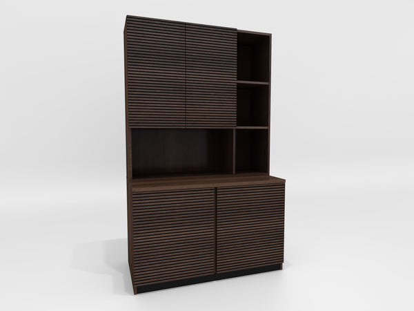 "47"" Bookcase/Storage Cabinet in Brazilian Cherry wood with a cognac finish TANGO-47OFBCS"