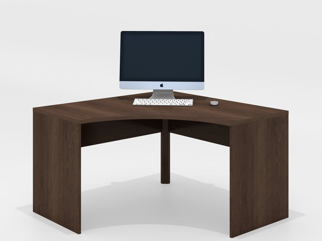 Cherry Wood Corner Desk Keep Cables From Falling Off Desk