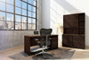 "66"" Rectangular writing desk in a cognac finish TANGO-66OFSD"