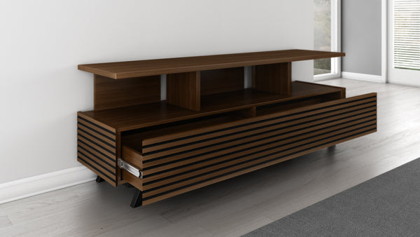 70 inch Modern TV Stand in a Cognac Finish