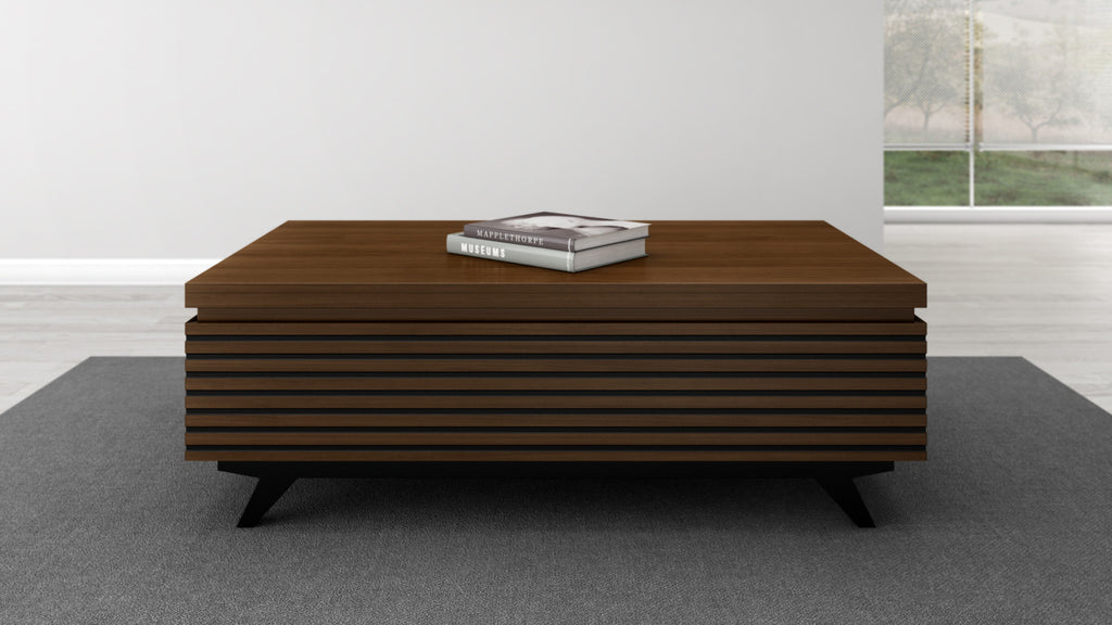 Picture of: Modern Coffee Table In Solid Cherry Wood Furnitech