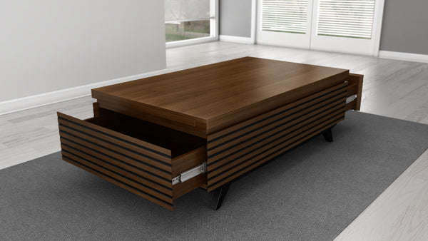 48 inch Modern Coffee Table in Solid Cherry Wood