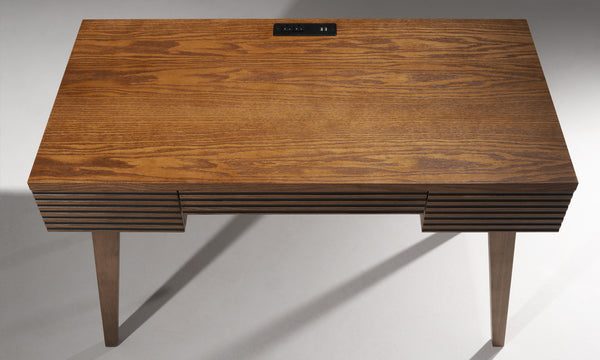 "48"" MID-CENTURY MODERN HONEY OAK WRITING DESK - TANGO-DK48HO"
