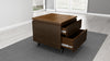 24 inch End Table Night Stand in a Rich Cognac Finish
