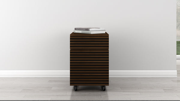 Two Drawer Mid-Century Modern Rolling File Cabinet TANGO-PD