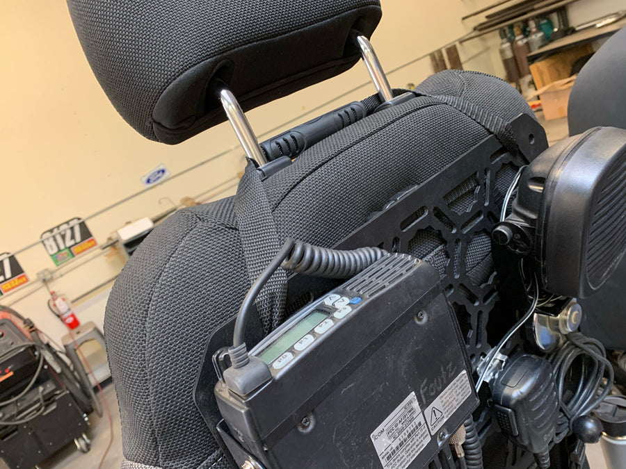 Communication Seat Back Panel Kit with Icom F5021 radio kit