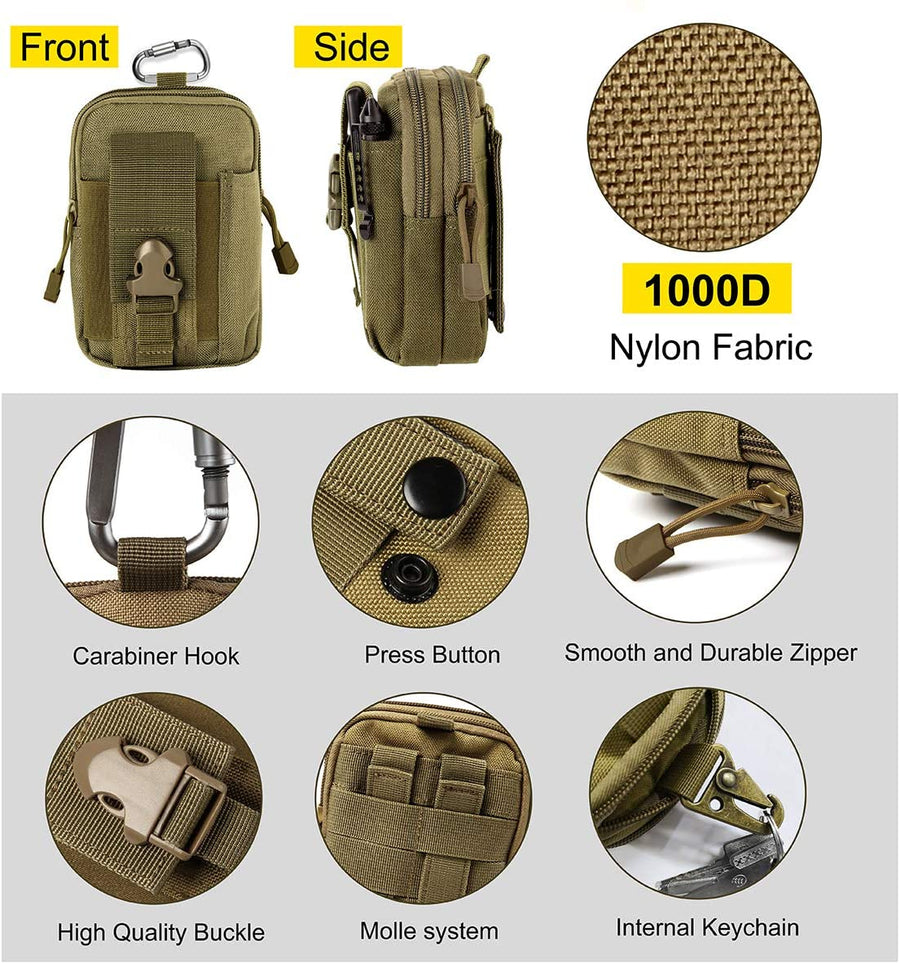 Small Personal Gear Molle pouch with pockets