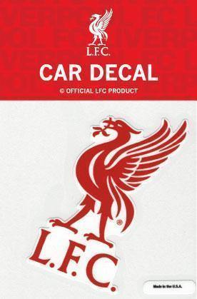 Liverpool FC Red on White Liverbird Decal