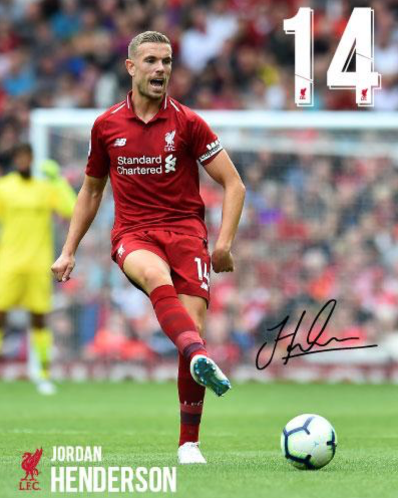 Jordan Henderson Hand Signed Photo Poster