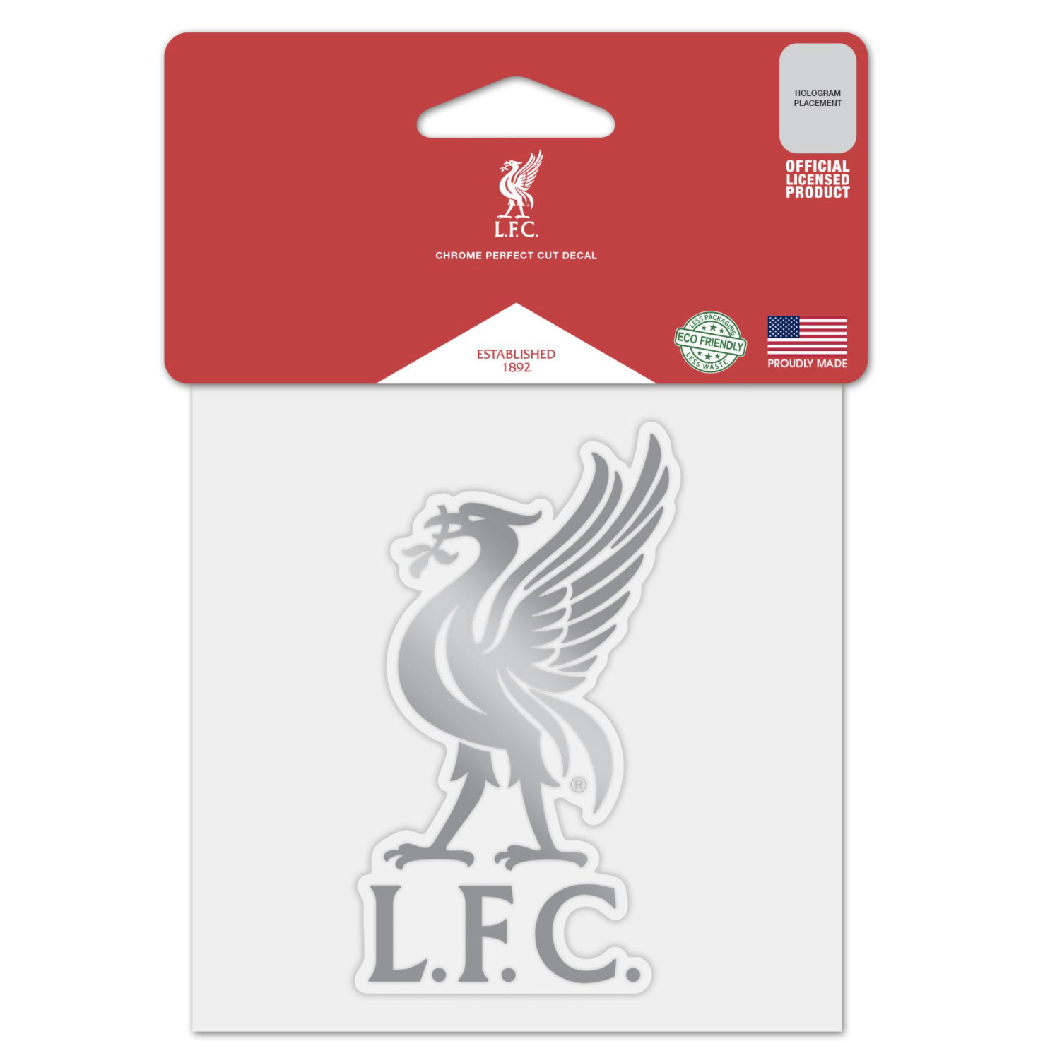 Liverpool FC Chrome 4x4 Decal