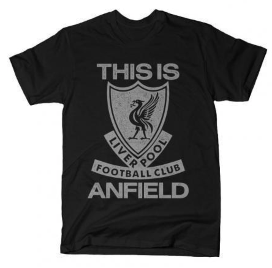 LFC This is Anfield T-Shirt (Grey on Black)
