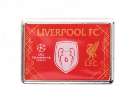 Liverpool FC UCL Badge of Honor Pin Badge - Anfield Shop