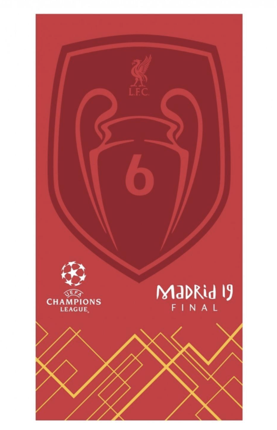 Liverpool FC UCL Badge of Honor Towel