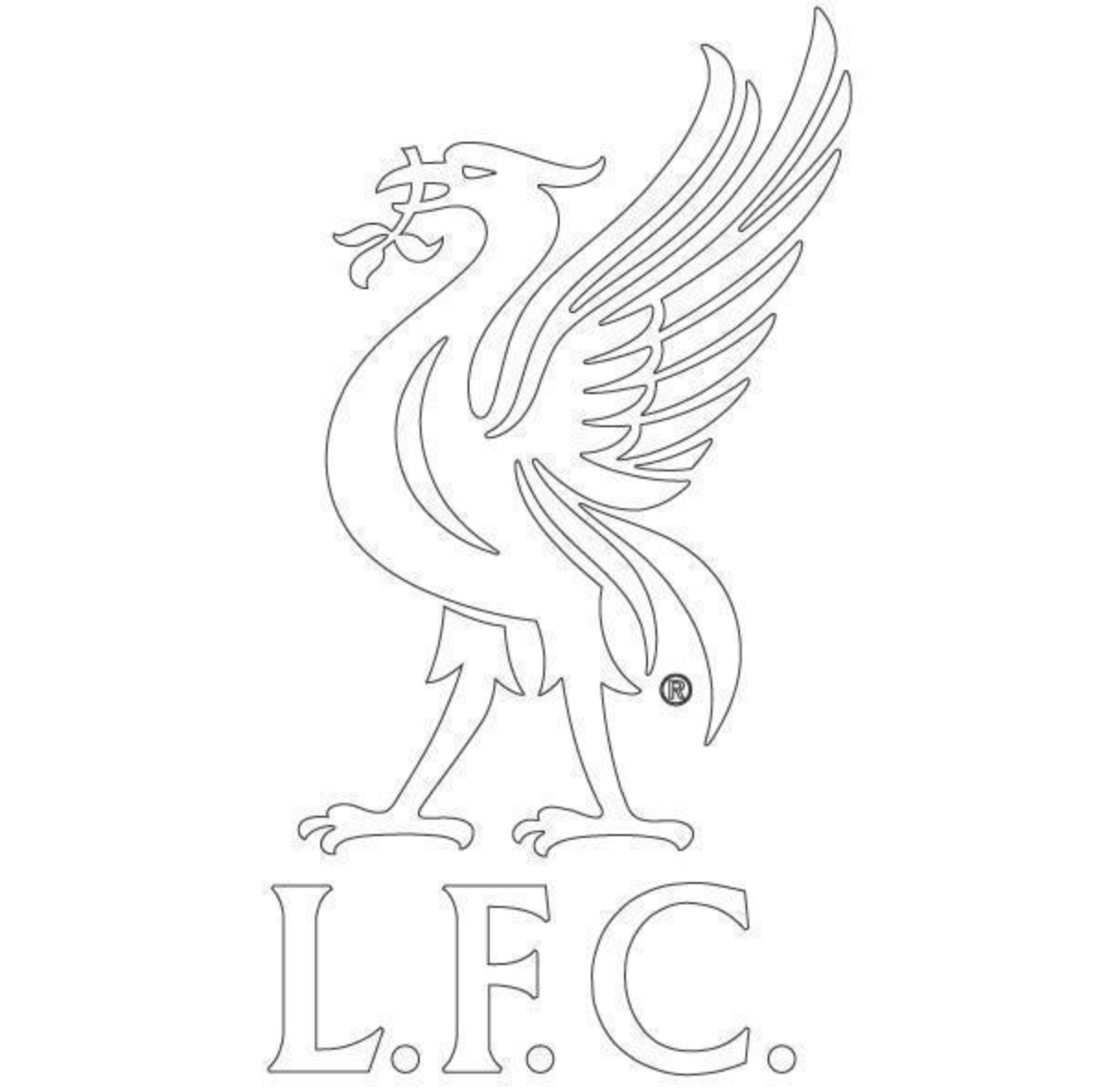 Liverpool FC White Liverbird Decal