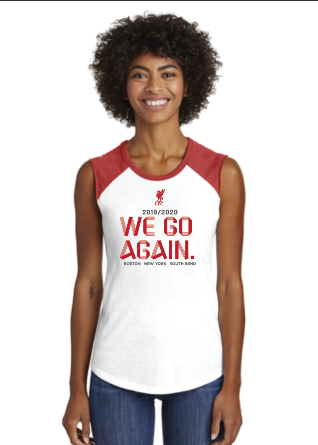 LFC Ladies We Go Again Sleeveless Raglan