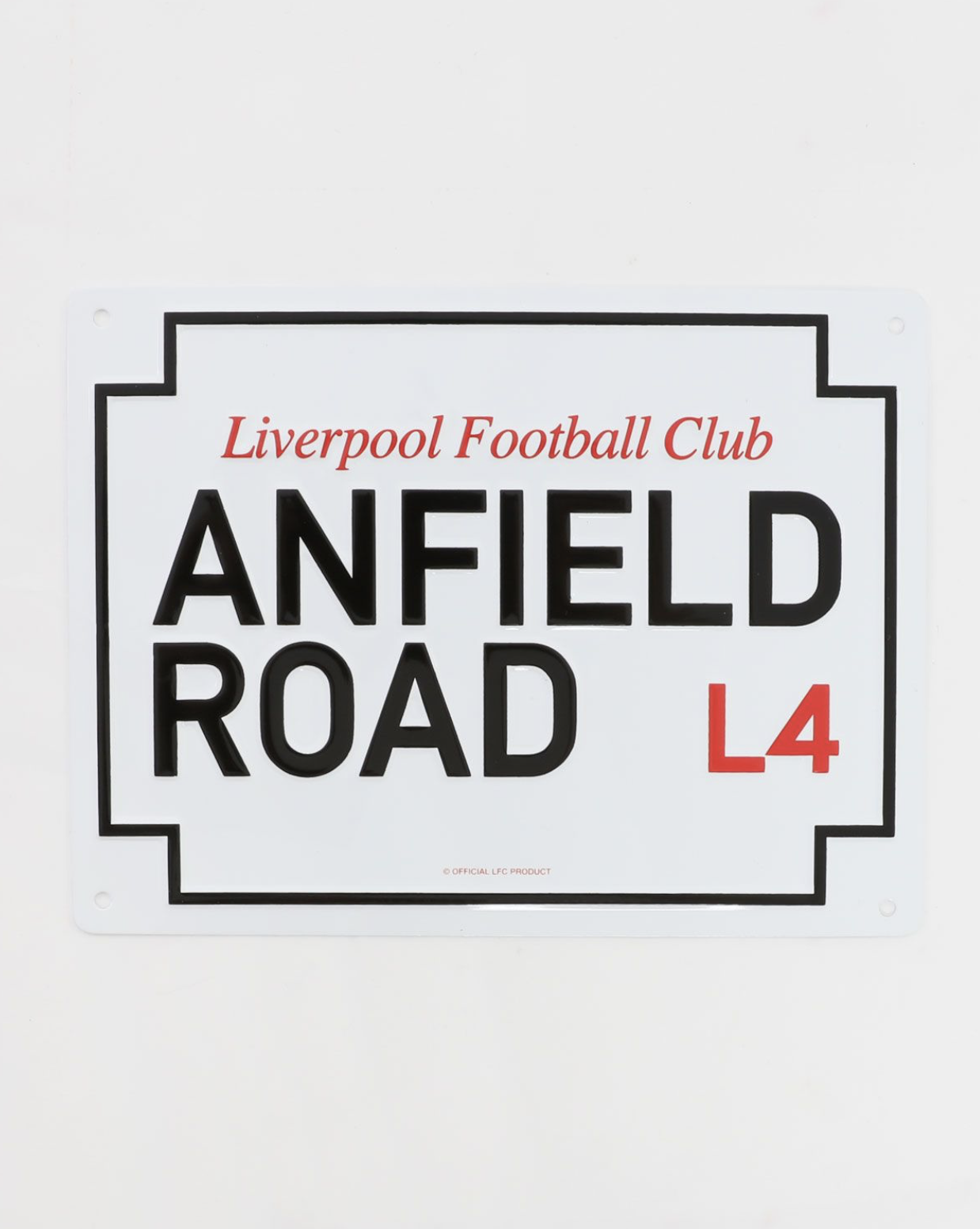 LFC Small Metal Anfield Road Sign