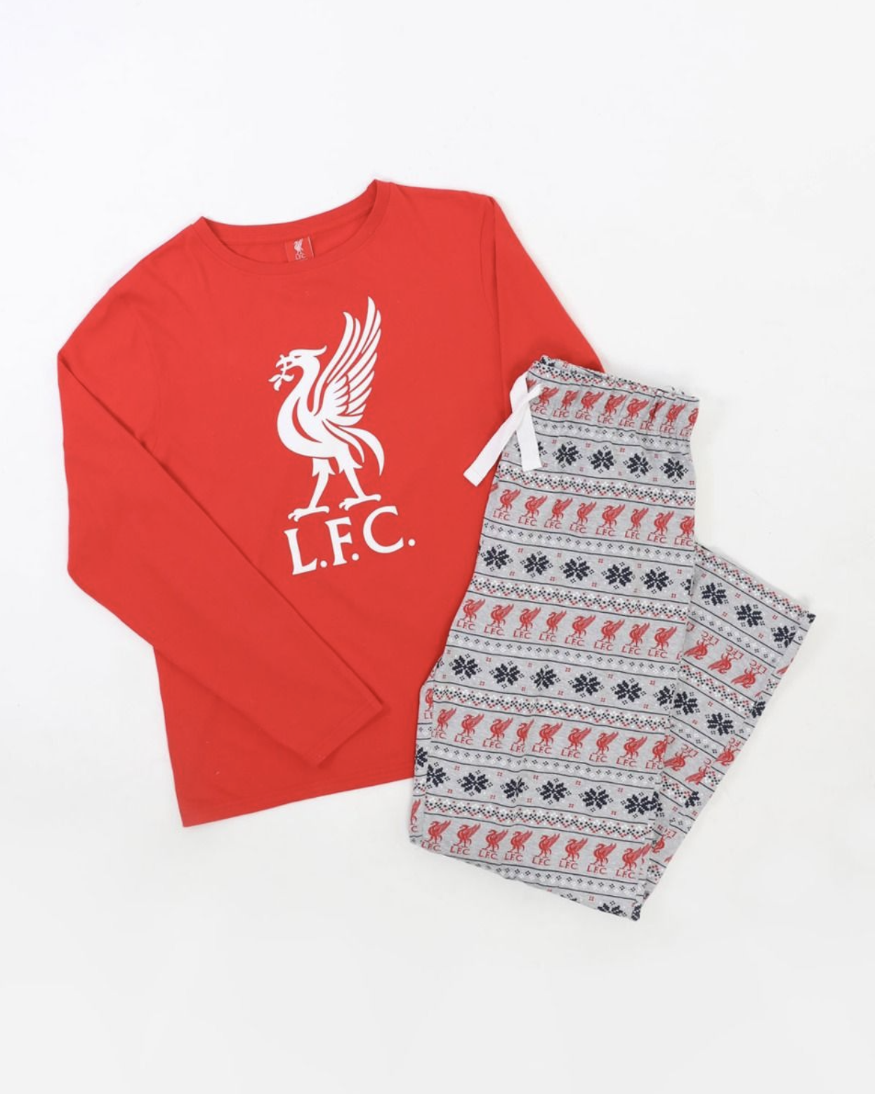 Liverpool FC Mens Christmas Liverbird PJ Set