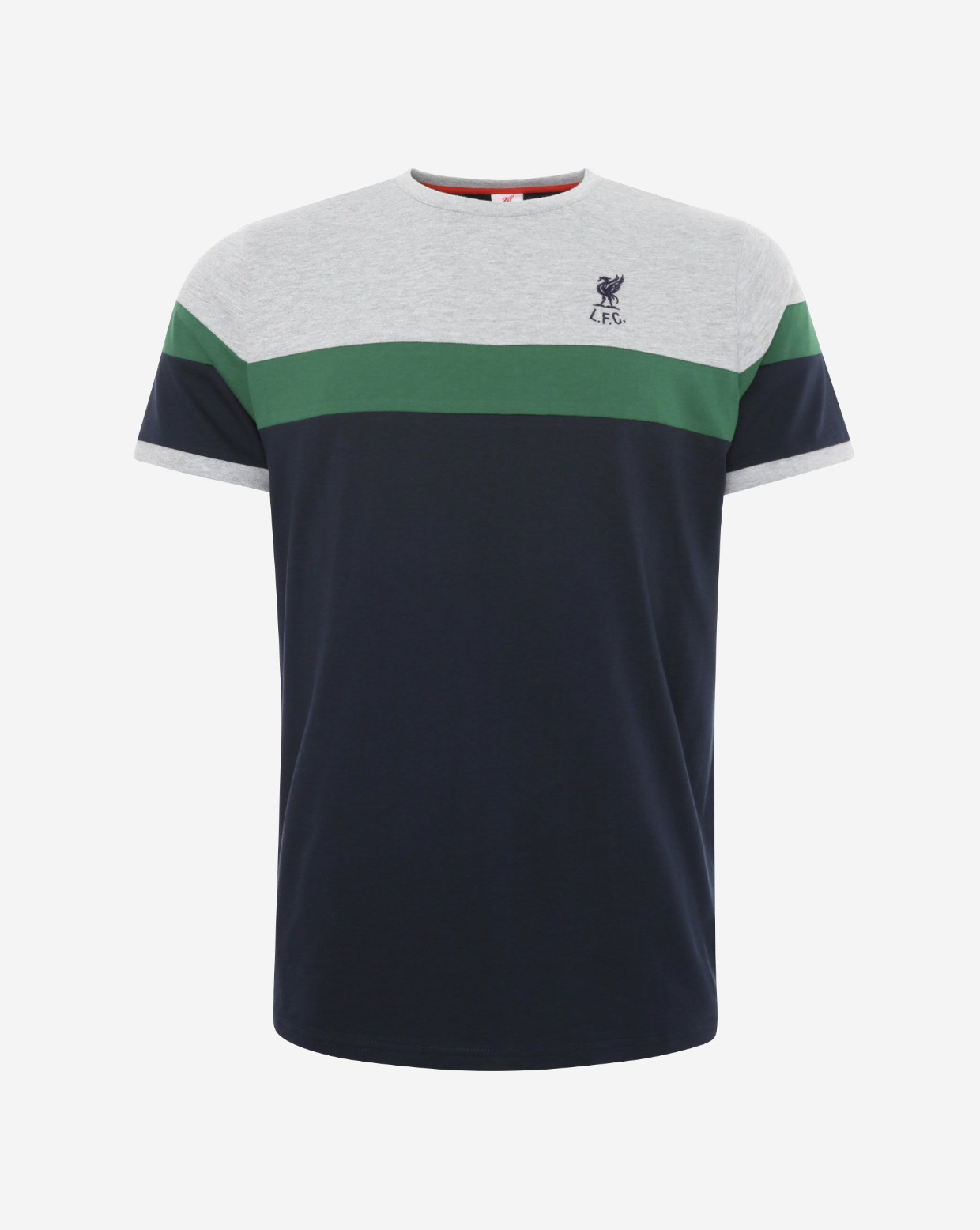 Liverpool FC Mens Navy Retro Panel Tee