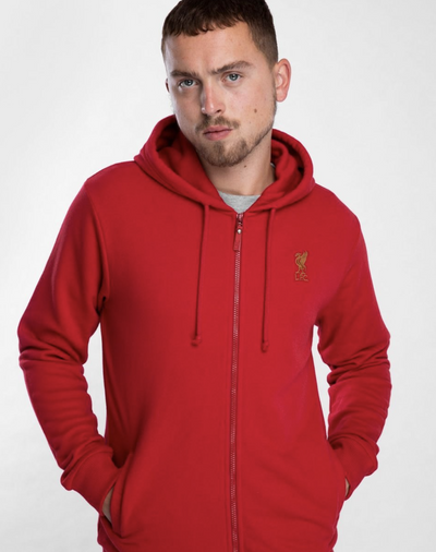 Liverpool FC Mens Red Zip Hoody - Anfield Shop