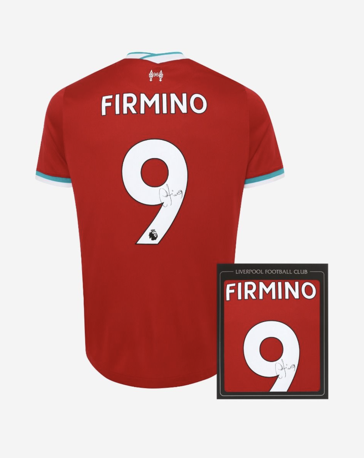 Liverpool FC Roberto Firmino Signed 20/21 Boxed Shirt