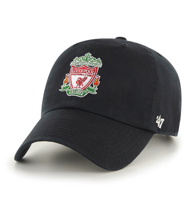 Liverpool FC '47 Black Crest Clean Up Cap - Anfield Shop