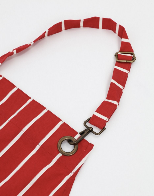 Liverpool FC Red Pinstripe Apron - Anfield Shop