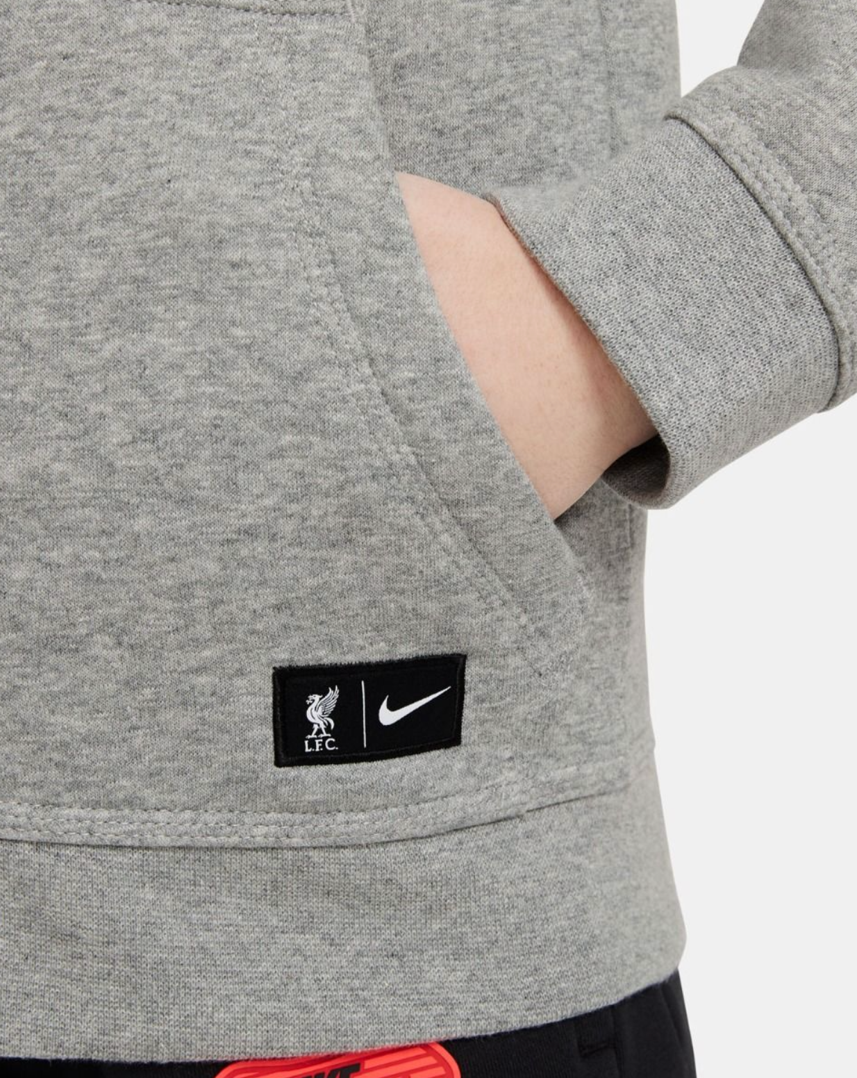 LFC Nike Air Max Junior Dark Grey Fleece Hoodie - Anfield Shop