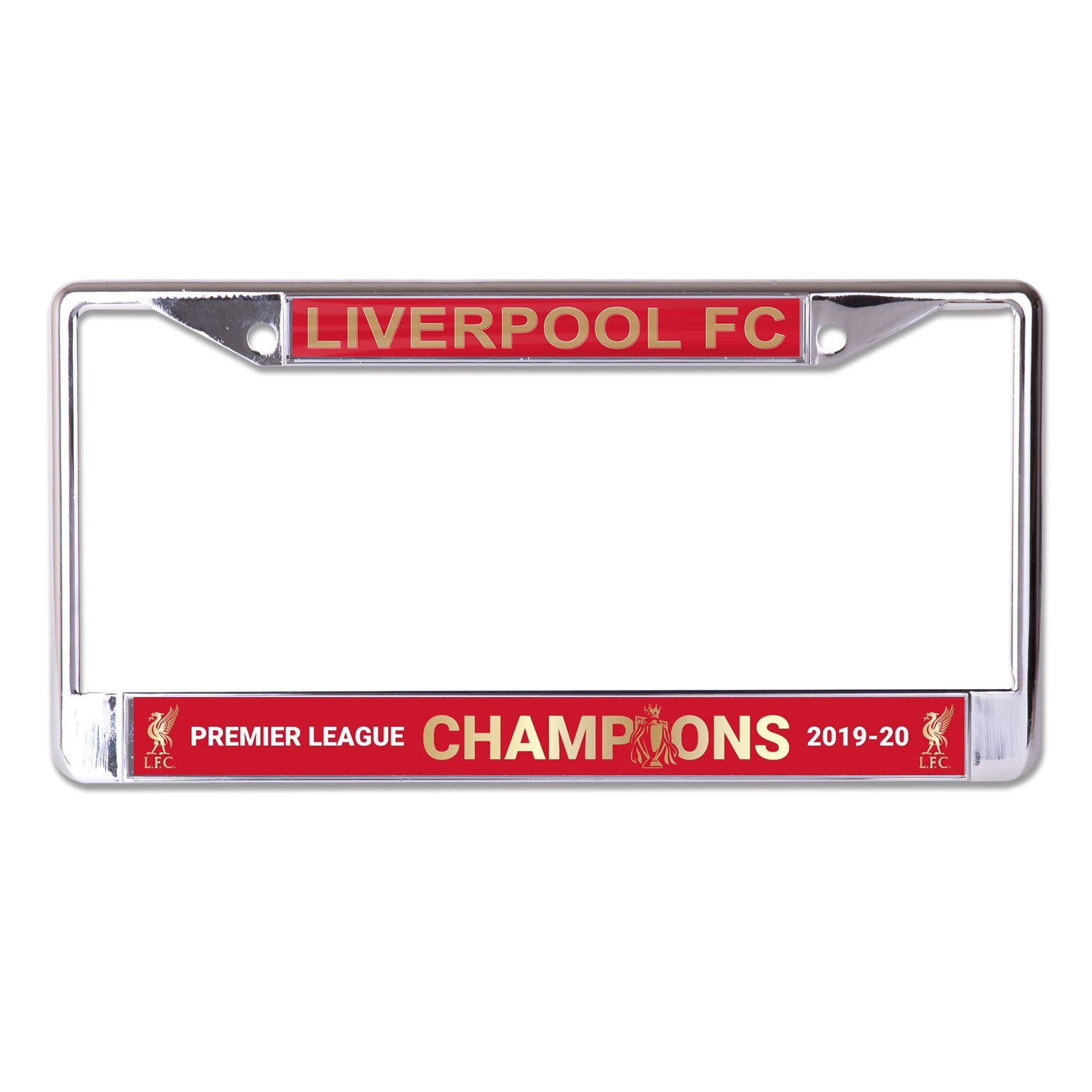 Liverpool FC Inlaid Premier League Champions License Plate Frame
