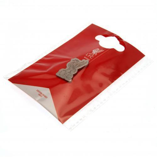 Liverpool FC Embossed Liverbird Crest Pin Badge - Anfield Shop