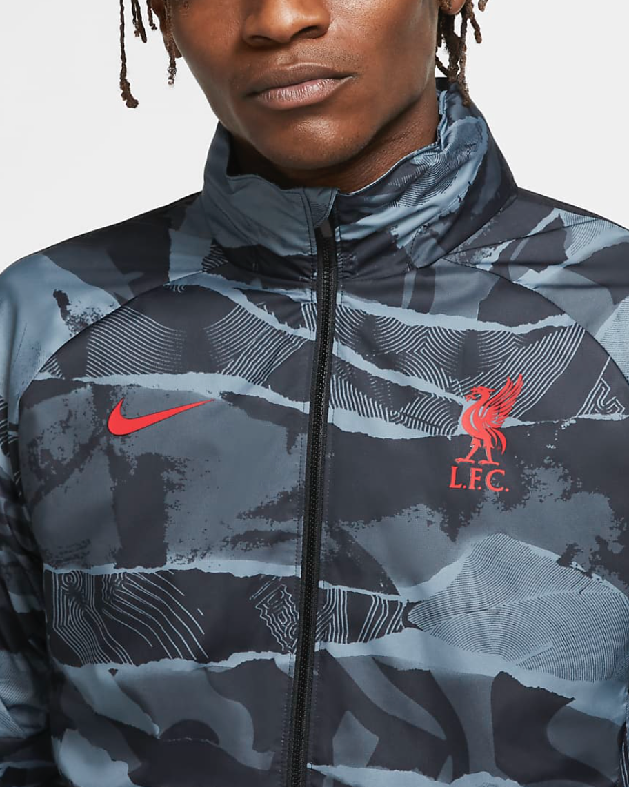 Liverpool FC Nike Men's Anthracite Soccer Jacket