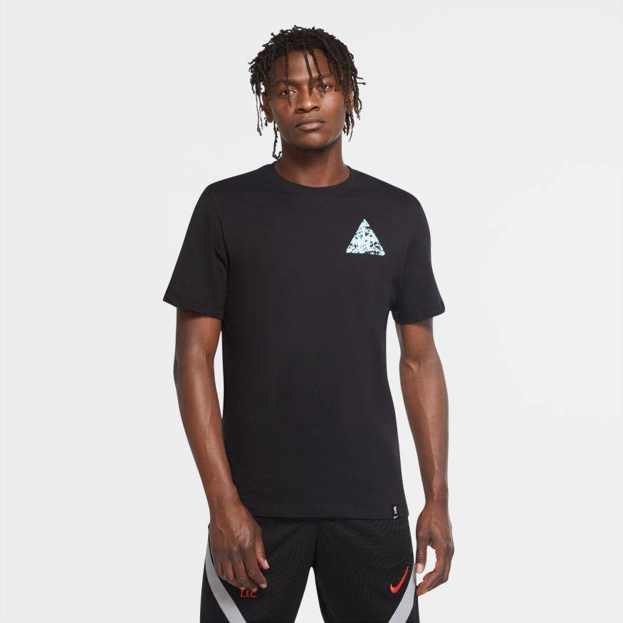 Liverpool FC Nike Black Pattern Football T-Shirt