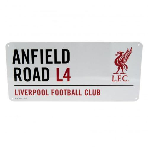 Liverpool FC L4 Anfield Road Metal Sign