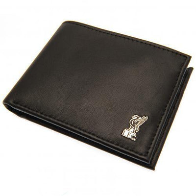 Liverpool FC Metal Crest Leather Wallet - Anfield Shop