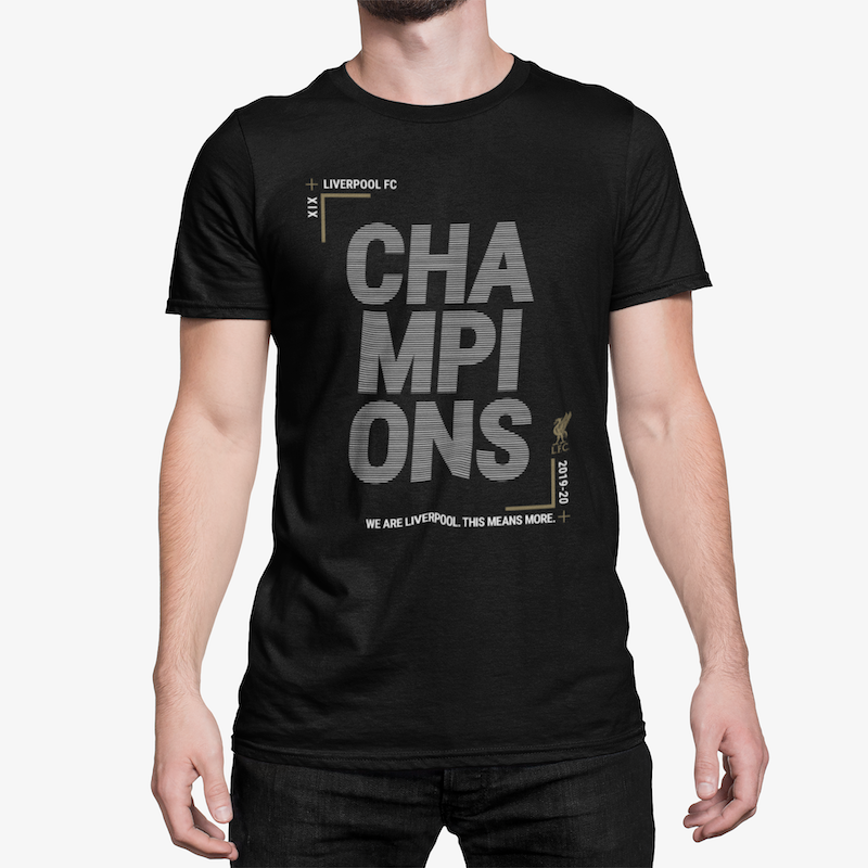 LFC 2019/20 Premier League Champions Winners T-Shirt