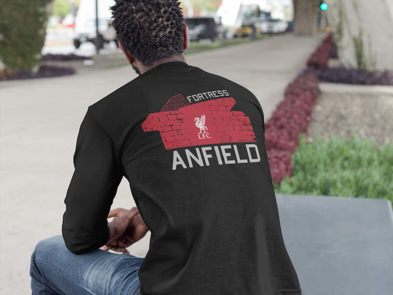 LFC Fortress Anfield Long-Sleeve Tri-Blend T-Shirt