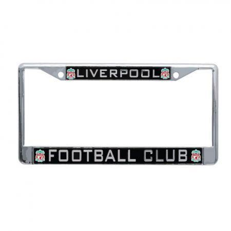 LFC Black Inlaid License Plate Frame - Anfield Shop